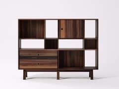 Libreria autoportante in legno di recupero BROOKLYN BF23-MH - Brooklyn