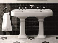Lavabo doppio in ceramicaBROOKLYN - DEVON&DEVON