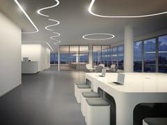 Profilo per illuminazione lineare da soffitto in alluminio estruso per moduli LEDBROOKLYN ROUND | Profilo per illuminazione lineare - PANZERI