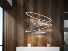 Lampada a sospensione a LED in alluminio estrusoBROOKLYN ROUND | Lampada a sospensione - PANZERI