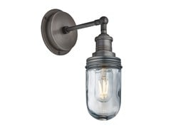 LAMPADA DA PARETE PER ESTERNO IN OTTONE E VETROBROOKLYN | LAMPADA DA PARETE - INDUSTVILLE