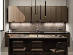 Cucina professionale su misura in acciaioBROWN CHOCOLATE & BRONZE-FINISH BRASS - OFFICINE GULLO