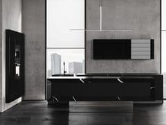 Cucina in marmo Nero Marquina e vetro con isolaBT45 MI8 - BAUTEAM