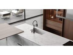 Cucina in marmo di Carrara con isolaBT45 PH - BAUTEAM