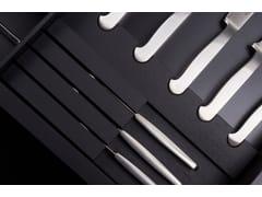 Divisorio per cassetti in legno con set di posate in acciaioBT45 STEAK EXPERIENCE - BAUTEAM
