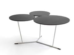 Tavolino basso laccato in alluminioBUBBLE - BLÅ STATION