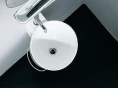 Lavabo rotondo con porta asciugamaniBUCATINI | Lavabo - AGAPE