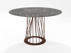 Tavolo in HPL e tondini di ferro pienoBURGOS | Tavolo in HPL - BAREL