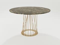 Tavolo in marmo e tondini di ferro pienoBURGOS | Tavolo in marmo - BAREL