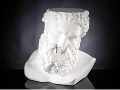 Tavolino / scultura in ceramicaBUSTO ERCOLE - NON PARLO - VGNEWTREND