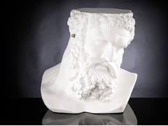 Tavolino / scultura in ceramicaBUSTO ERCOLE - NON SENTO - VGNEWTREND