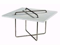 Tavolino quadrato in marmo BUTTON | Tavolino quadrato -