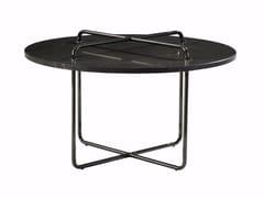 Tavolino rotondo in marmo BUTTON | Tavolino rotondo -