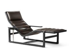 Chaise longue imbottita in pelleBYRON - POLTRONA FRAU