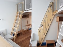 Scala retrattile in bambù Bcompact Hybrid Ladder - BCOMPACT DESIGN