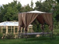 Letto da giardino in ferro battuto a baldacchinoLettino prendisole 3 - GARDEN HOUSE LAZZERINI
