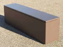 IMAGE'IN, Panca da giardino con contenitore Panca in cemento fibrorinforzato e alluminio con contenitore