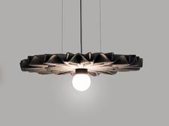Pannello acustico a sospensione in feltro con illuminazione integrataBuzziPleat Light - BUZZISPACE