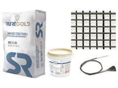 FRCM in fibra di carbonio 42+42 g/m2 e matrice inorganicaC-MESH 42/42 - RUREGOLD