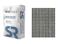 RUREGOLD, C-MESH 84/84 FRCM in fibra di carbonio 84+84 g/m2 e matrice inorganica