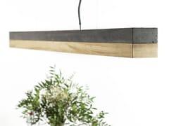 Lampada a sospensione a LED in cemento e legno [C1] DARK OAK - C