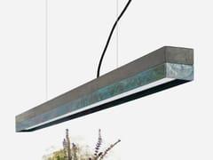 Lampada a sospensione a LED a luce diretta in rame ossidato [C1] DARK OXIDISED COPPER - C