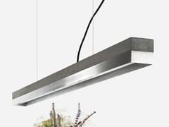 Lampada a sospensione a LED a luce diretta in acciaio inox [C1] DARK STAINLESS STEEL - C