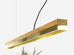 Lampada a sospensione a LED in rovere ottone [C1o] BRASS - C