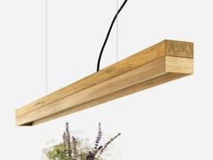 Lampada a sospensione a luce diretta a LED in rovere [C1o] OAK - C