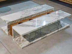 TAVOLINO BASSO RETTANGOLARE IN MARMOC2 - HOME DESIGN BY FRANCHI UMBERTO MARMI
