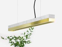 Lampada a sospensione a LED in marmo di Carrara e ottone [C2m] CARRARA BRASS - C