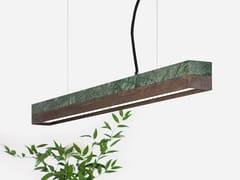 Lampada a sospensione a LED in marmo Guatemala e Corten™ [C2m] GUATEMALA CORTEN STEEL - C
