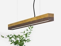Lampada a sospensione a LED in rovere e acciaio corten[C2o] CORTEN STEEL - GANTLIGHTS