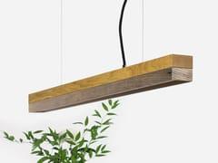 Lampada a sospensione a LED in rovere e legno di recupero [C2o] OLD WOOD - C