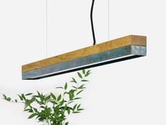 LAMPADA A SOSPENSIONE A LED IN ROVERE E RAME OSSIDATO[C2O] OXI - GANTLIGHTS
