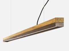 Lampada a sospensione a LED in rovere e acciaio corten [C3o] CORTEN STEEL - C