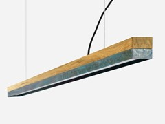 Lampada a sospensione a LED in rovere e rame ossidato[C3o] OXIDISED COPPER - GANTLIGHTS