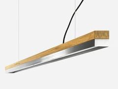 Lampada a sospensione a LED in rovere e acciaio inox [C3o] STAINLESS STEEL - C