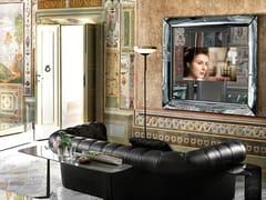 Specchio rettangolare in vetro con cornice da pareteCAADRE TV - FIAM ITALIA