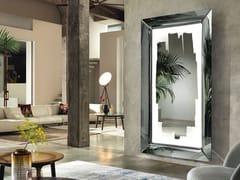 Specchio in vetro con cornice con illuminazione integrata da pareteCAADRE WITH LIGHT | Specchio - FIAM ITALIA