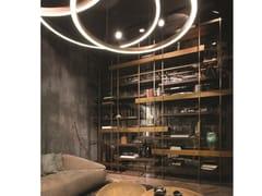 Libreria in acciaio con ripiani in legno massello e metalloCAGE-BS - H-07