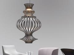 LAMPADA A SOSPENSIONE A LED IN METALLOCAGE - M.M. LAMPADARI