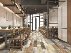 Pavimento/rivestimento in ceramica a pasta bianca effetto legnoCAICOS - ABSOLUT PARTNERS