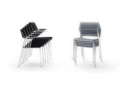 Sedia in polipropilene riciclato e metalloCALA | Sedia impilabile - DIEMMEBI