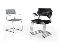 Sedia a sbalzo impilabile con braccioliCALA | Sedia impilabile - DIEMMEBI