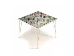 Tavolino quadrato in ceramica CALDAS | Tavolino in ceramica - Caldas
