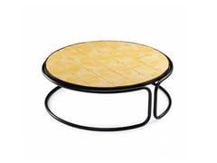 Tavolino rotondo in ceramica da salotto CALDAS | Tavolino da salotto - Caldas