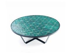 Tavolino rotondo in ceramica CALDAS | Tavolino rotondo - Caldas