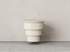 Wc sospeso in ceramicaCALLIPYGE MONOCHROMES CREMA - TRONE