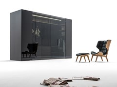 Cabina armadio in legno e vetroCAMERINO | Cabina armadio in legno e vetro - CACCARO